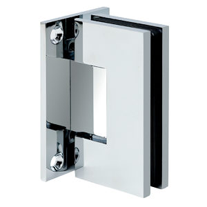90° Glass-to-Wall Hinge with Full Back Plate - Square Heavy Duty series