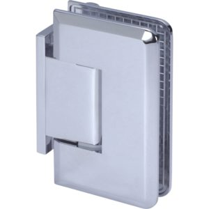 90° Glass-to-Wall Hinge with Offset Back Plate - Beveled Heavy Duty Series