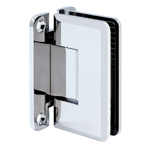 "90° Glass-to-Wall Hinge with ""H"" Back Plate - Beveled Heavy-Duty Series"