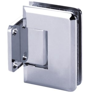 90° Glass-to-Wall Hinge with Short Back Plate - Beveled Series