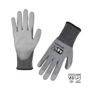 Polyurethane Dipped Industrial Cut-Resistant ANSI A3 Gloves