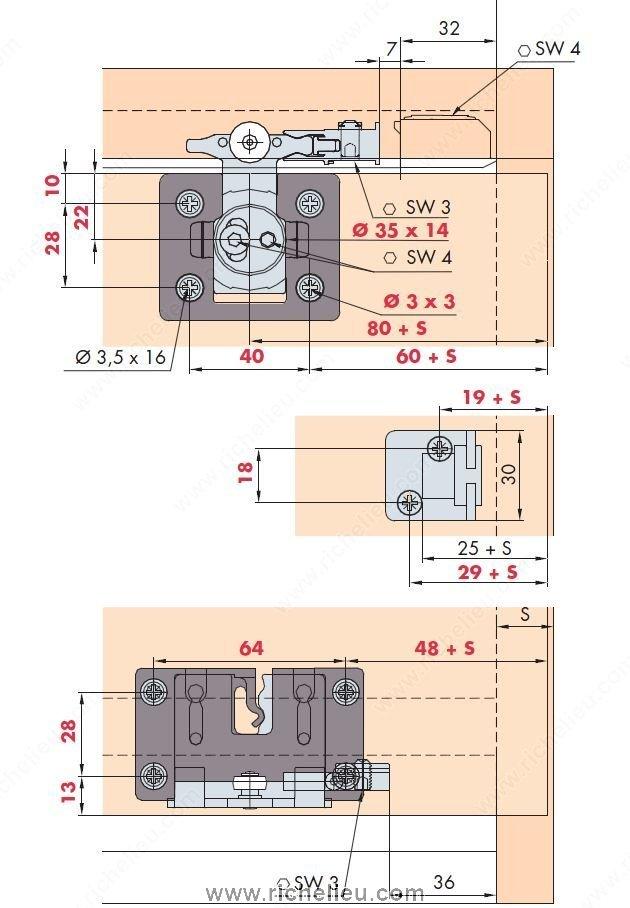Clipo 26 H Ms System Hardware Set Richelieu Hardware
