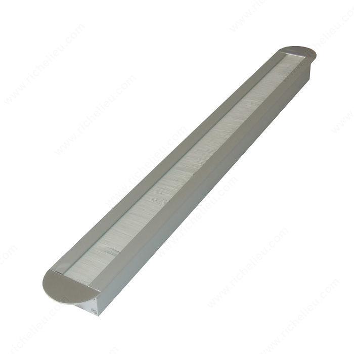 Pasacables rectangular - Extremos redondeados - Richelieu Hardware