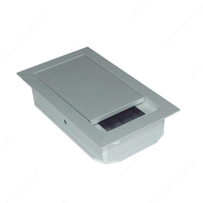 Pasacables rectangular con cepillo - Richelieu Hardware