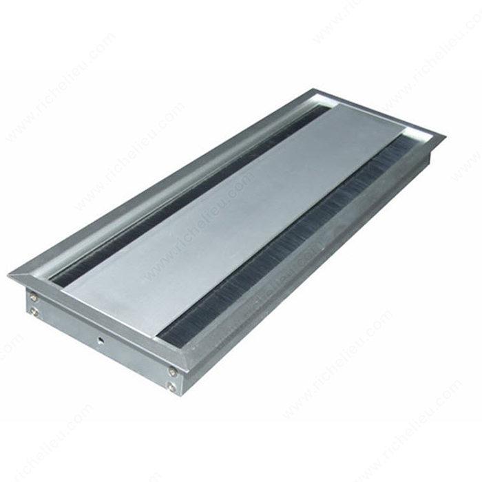 Pasacables rectangular con doble cepillo - Richelieu Hardware
