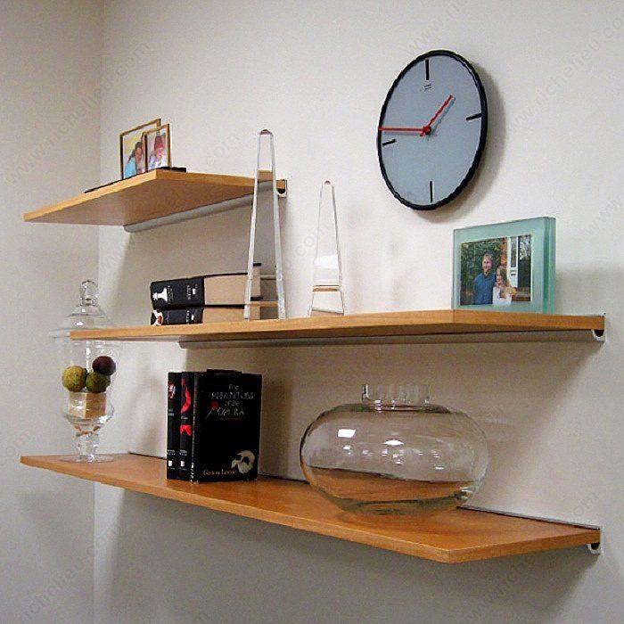 Decorative aluminum support for wooden shelves bs0 richelieu hardware - Petite etagere murale ...