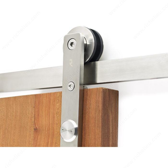Herraje con riel de rodamiento de barra plana para puertas - Rieles para puertas ...