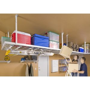 "HyLoft  96"" x 48"" Super Pro Ceiling Storage Unit, White"