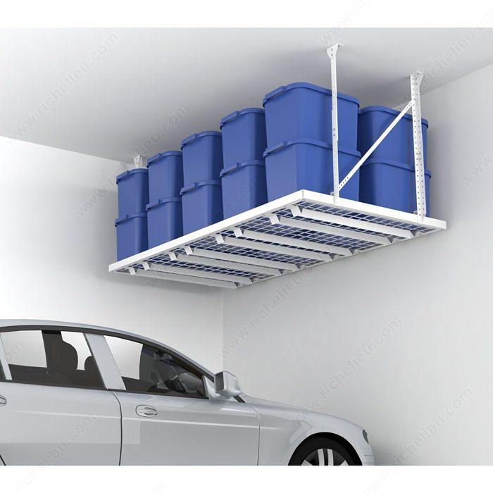 hyloft 96 x 48 super pro ceiling storage unit white the hyloft ceiling ...