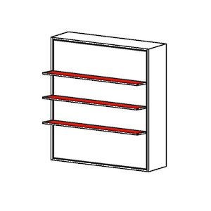 Luna - Vertical Opening Mechanism with Three Shelf