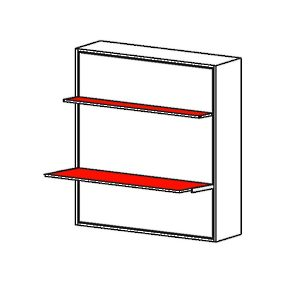 Stella - Vertical Opening Mechanism with Shelf and Desk
