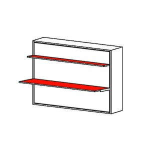 Stella - Horizontal Opening Mechanism with Shelf and Desk