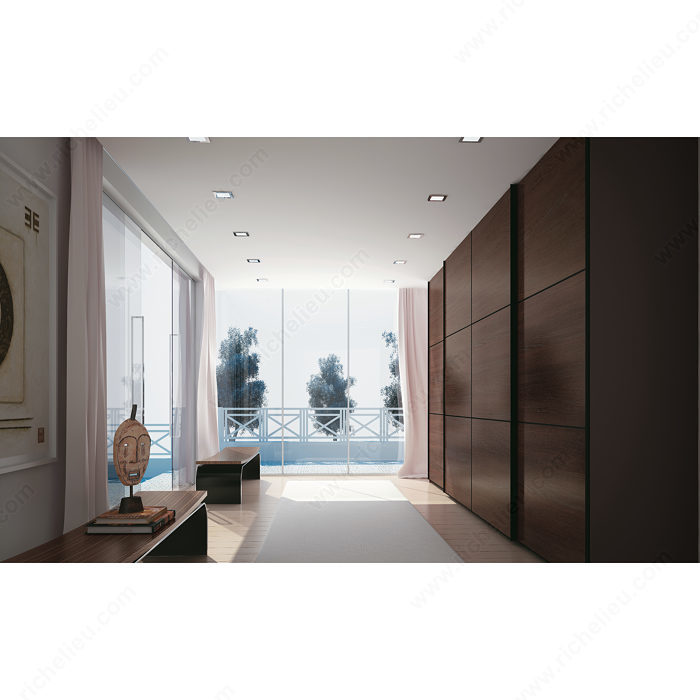 Charming By Pass Sliding System For 3 Large Cabinet Doors   Richelieu Hardware