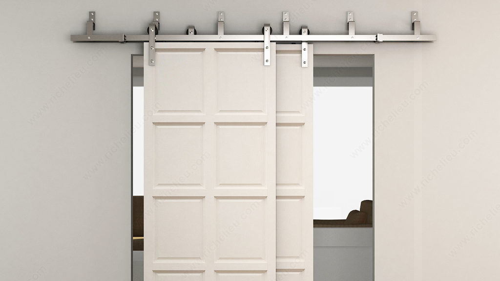 porte de grange pour porte jusqu kg d placement droit sur rail en coulissante exterieur porte. Black Bedroom Furniture Sets. Home Design Ideas