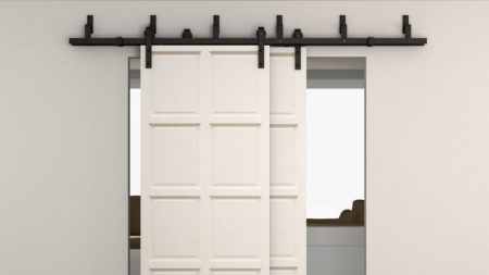 Rustic barn door hardware for interior sliding doors - Commode porte coulissante ...