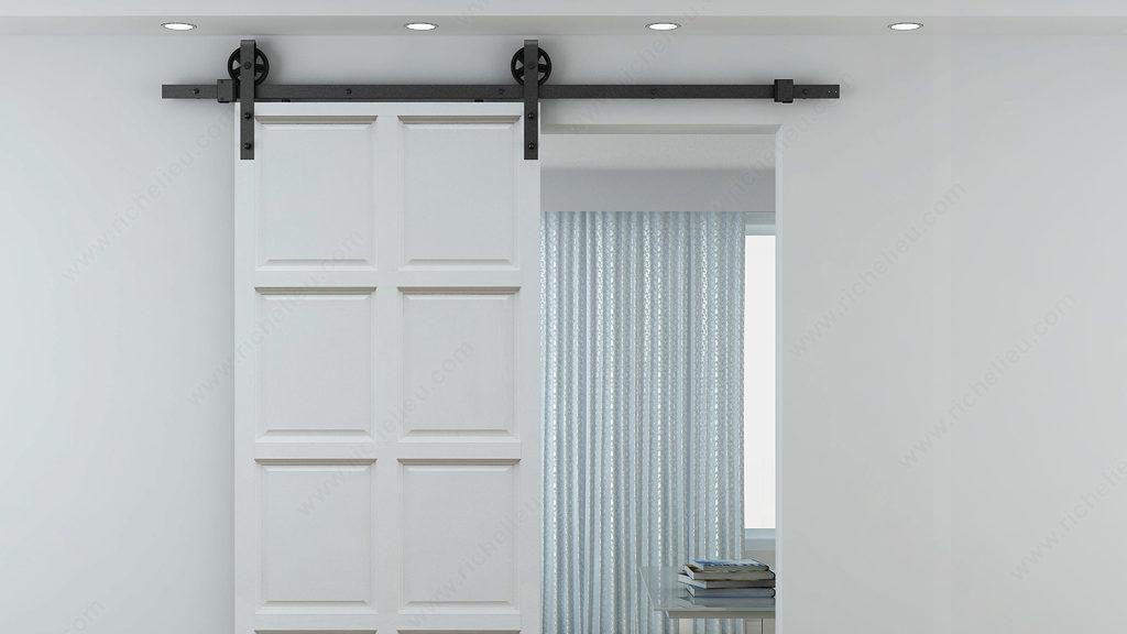 porte de grange en bois coulissante images quincaillerie. Black Bedroom Furniture Sets. Home Design Ideas