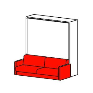 Cielo - Vertical Opening Mechanism with Sofa and Concealed Leg