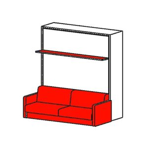 Cielo - Vertical Opening Mechanism with Sofa and Shelf
