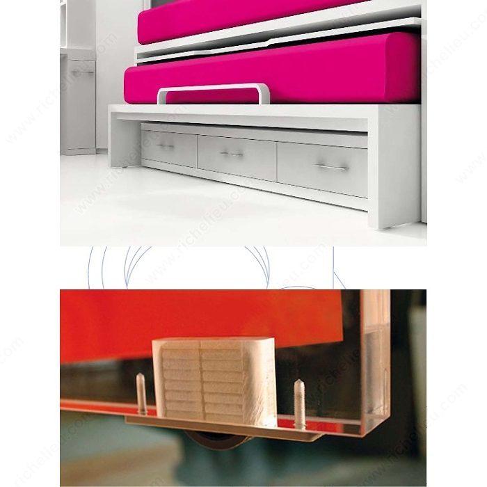 roulette hide pour meuble panneau 80964. Black Bedroom Furniture Sets. Home Design Ideas