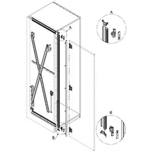 Pivot/Slide In Hardware For One Door, Hawa Concepta 25   Richelieu Hardware