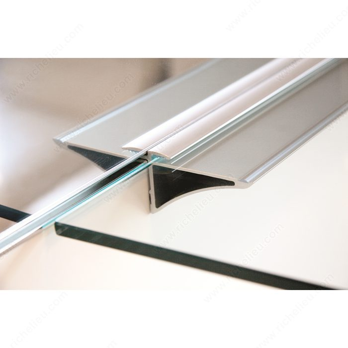 horizontal glass shelf support richelieu hardware. Black Bedroom Furniture Sets. Home Design Ideas