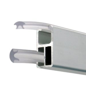 Transparent Gasket for Rectangular Hangrail Rod