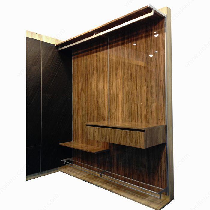 vertical shoe rack support richelieu hardware. Black Bedroom Furniture Sets. Home Design Ideas