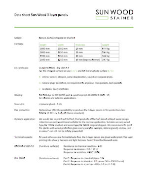Technical data sheet (available only in English)