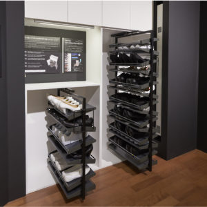 revolving shoe system richelieu hardware. Black Bedroom Furniture Sets. Home Design Ideas