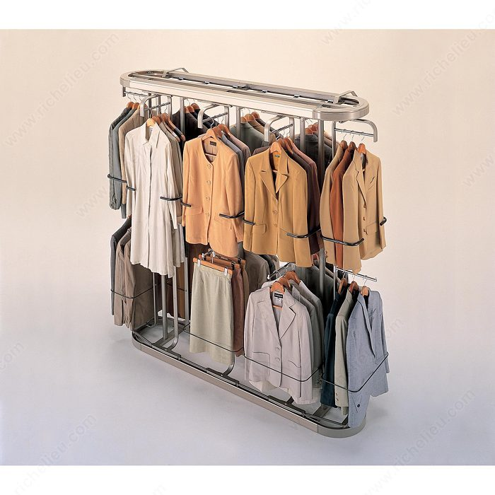 rods clothescarousel closet storagemotion carousel hanging vertical revolving clothes img for rotating