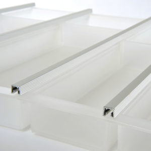 Cuisio Translucent Drawer Dividers in Bulk