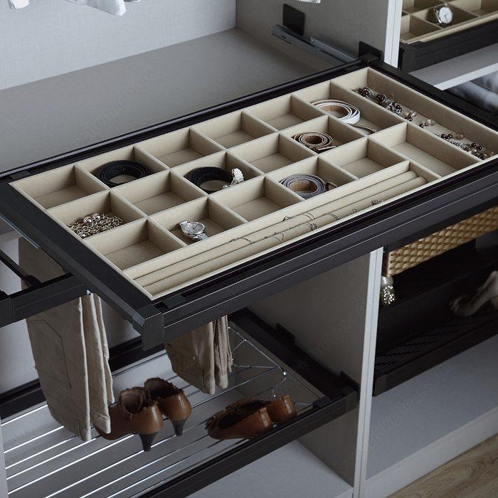 tiroir bijoux kamo quincaillerie richelieu. Black Bedroom Furniture Sets. Home Design Ideas