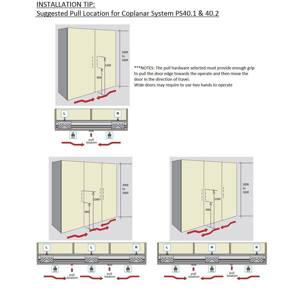 Door Straightening Bar: Coplanar Sliding System PS40.1