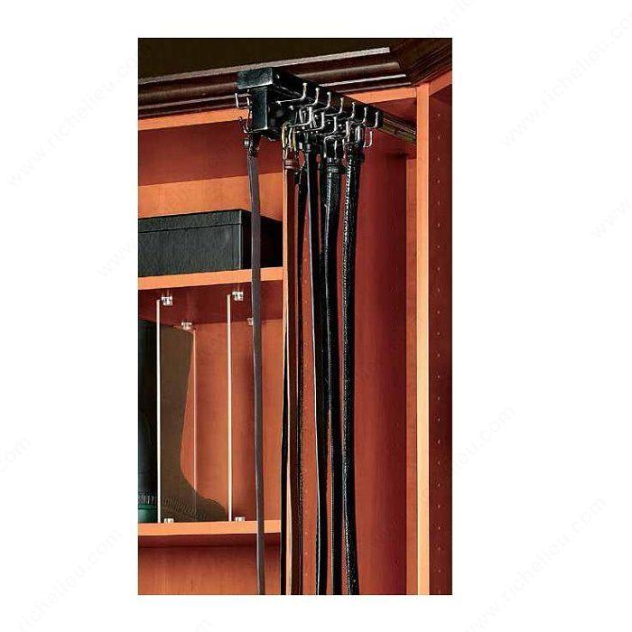 Best Tie Racks For Closets: Top-mounted Sliding Belt Rack
