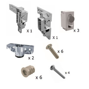 Libra BS - Complete Set of Hardware for 1 Suspended Cabinet