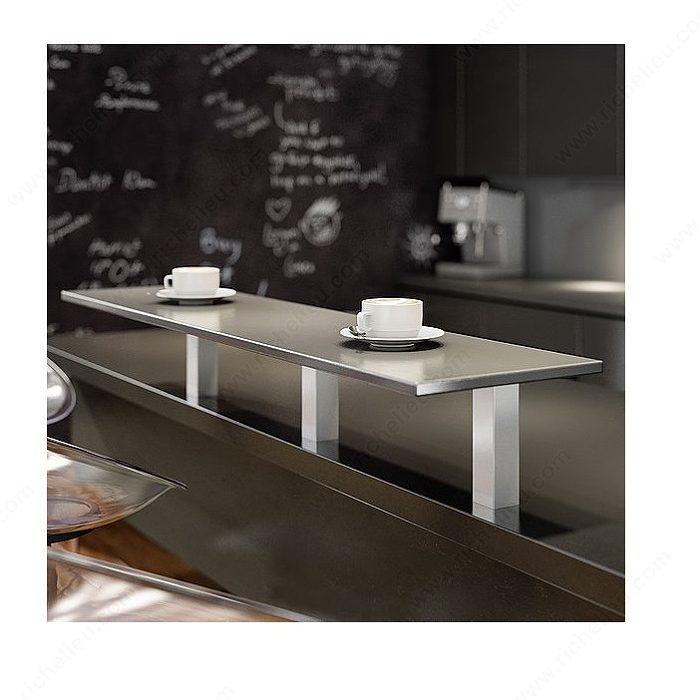 support droit carr quincaillerie richelieu. Black Bedroom Furniture Sets. Home Design Ideas
