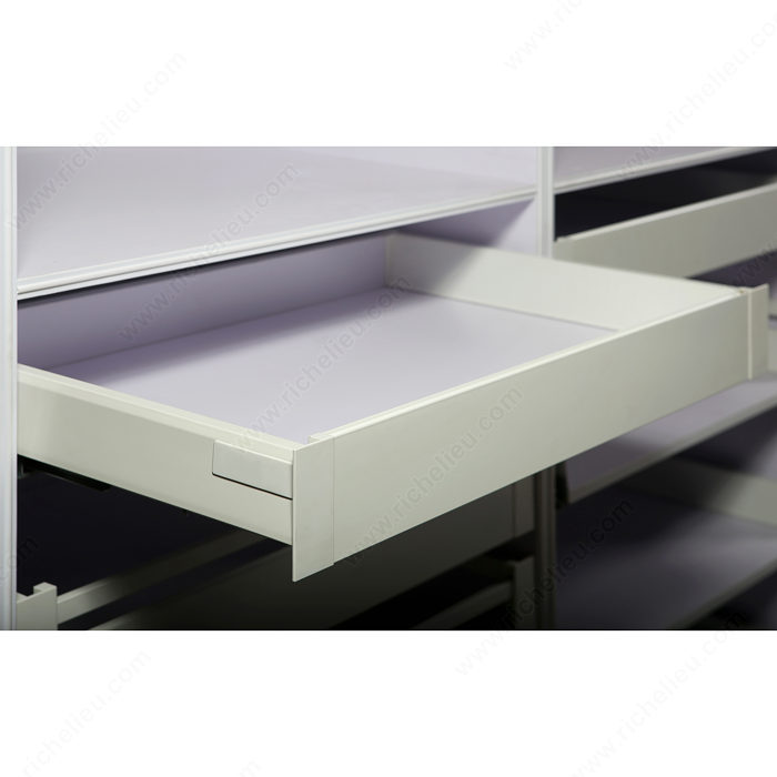 Hinged Drawer Slides : Pull out drawer set mm height richelieu hardware