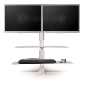 Altissimo Sit/Stand Workstations for 2 monitor