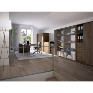 EKU-Clipo 36 GPK IS By-Pass Sliding System for Glass Cabinet Doors Inset