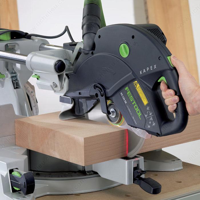 kapex ks 120 sliding compound miter saw richelieu hardware. Black Bedroom Furniture Sets. Home Design Ideas