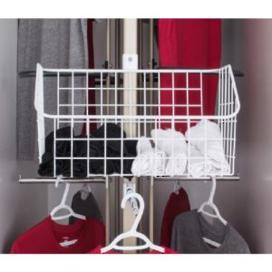 Optional Basket for Rotating Closet System