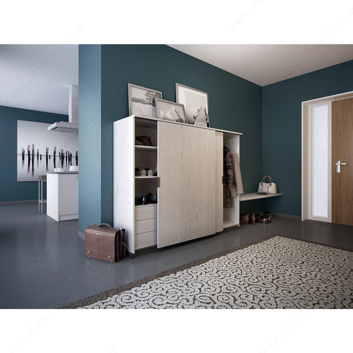syst me coulissant pour meuble semi haut eku clipo 26 h ms quincaillerie richelieu. Black Bedroom Furniture Sets. Home Design Ideas