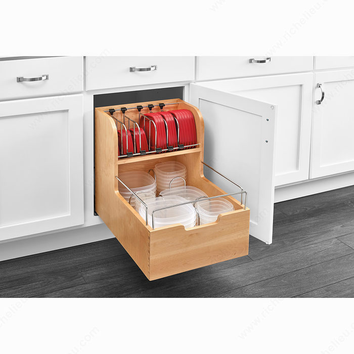 food storage container organizer richelieu hardware. Black Bedroom Furniture Sets. Home Design Ideas