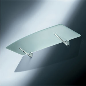 support mural pour tablette en verre ou en bois roma. Black Bedroom Furniture Sets. Home Design Ideas