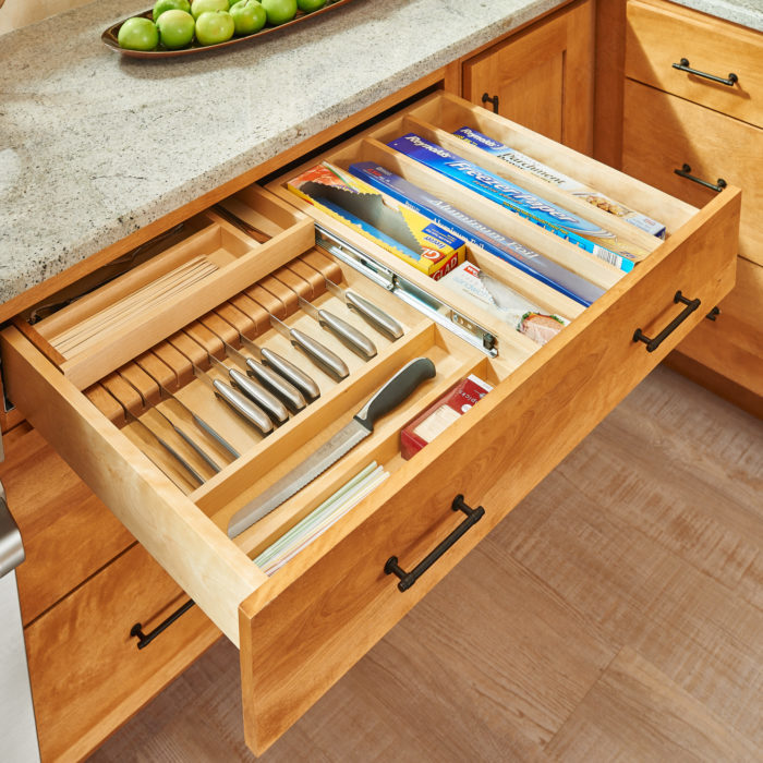 Kitchen Cabinet Slides: Tiered Combination Drawers For Face Frame Cabinets