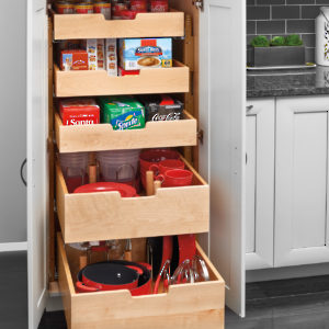Wood Drawers and Slides for Drawer System
