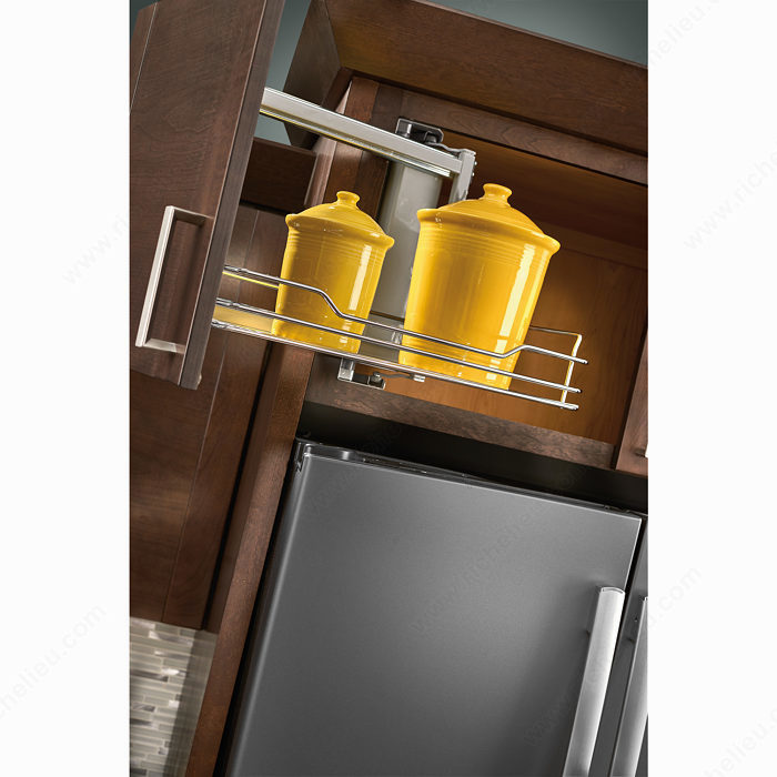 Kitchen Cabinet Accessories Pull Out: Above Appliance Pull-Out