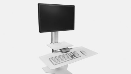 Sit2Stand - Single Monitor/White