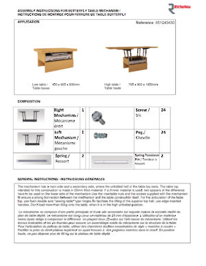Butterfly Table - Instructions