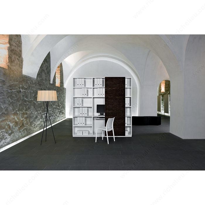 Syst me coulissant en applique pour armoire une porte eku regal a 25 h fs quincaillerie - Systeme coulissant pour pose applique porte ...